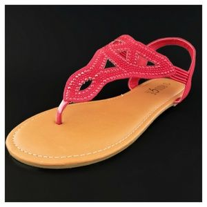 Women's Red Sandals Rouge Helium Size 6 1/2